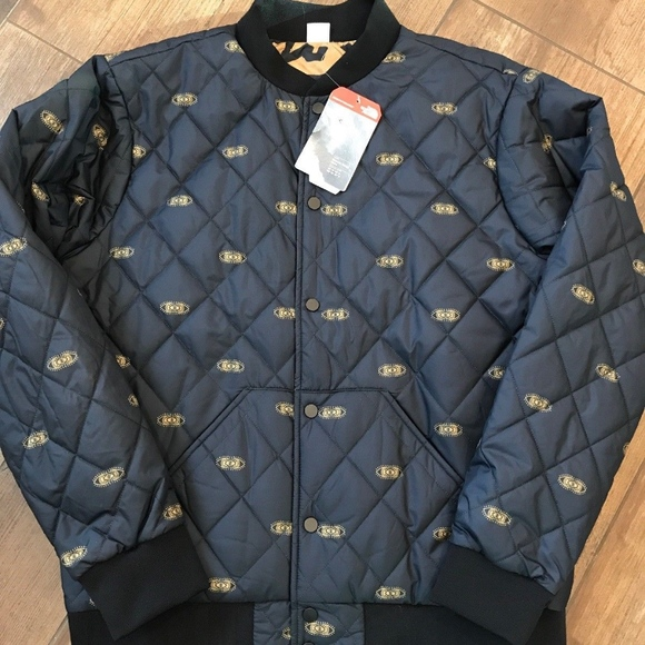 c17356afb The North Face Jester Bomber Jacket Black Gold NWT